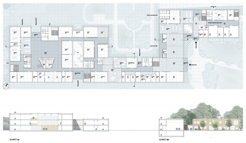 Erdgeschoss mit Schnitten