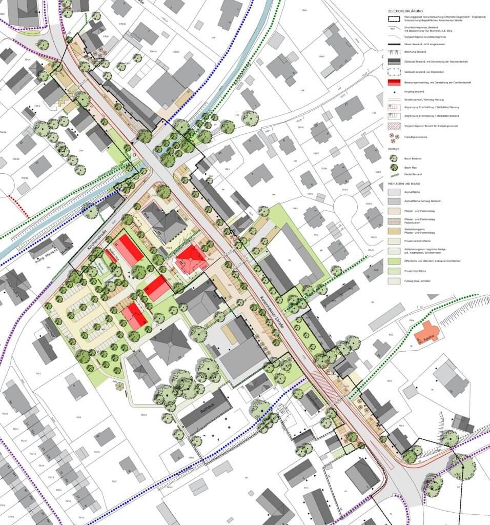 """Städtebau: Gestaltplan """"Ortsmitte Degerndorf"""""""